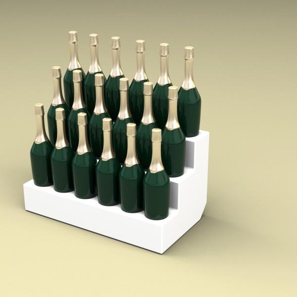 Espositore bottiglie Mod. BRILLO