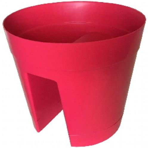 Vaso tondo ringhiera con sottovaso mod. REGIN...