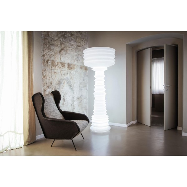 Lampada da interno illuminabile con kit luce neon Mod. ANDROMEDA