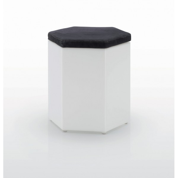 Seduta Pouf  con cuscino mod. POUF EXAGON 45 ILLUMINABILE