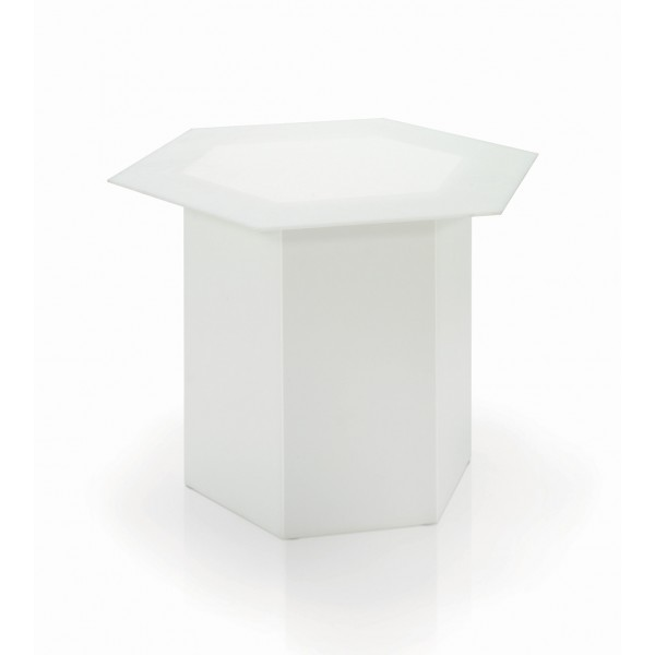 Tavolino  Esagonale con Vetro mod. EXAGON 55 ...